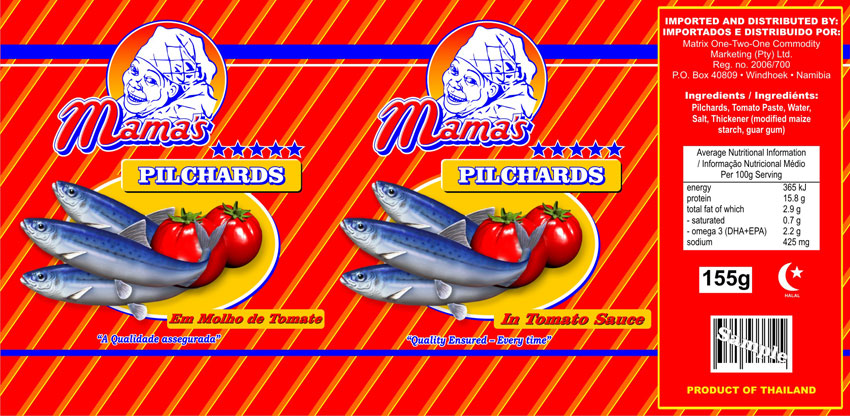 Fish label design - Tomato